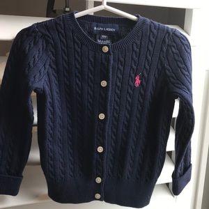 Ralph Lauren navy blue cardigan 18M